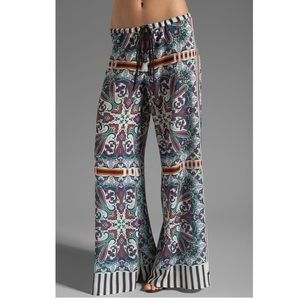 Clover Canyon Paisley Road Wise Leg Pants Med $290